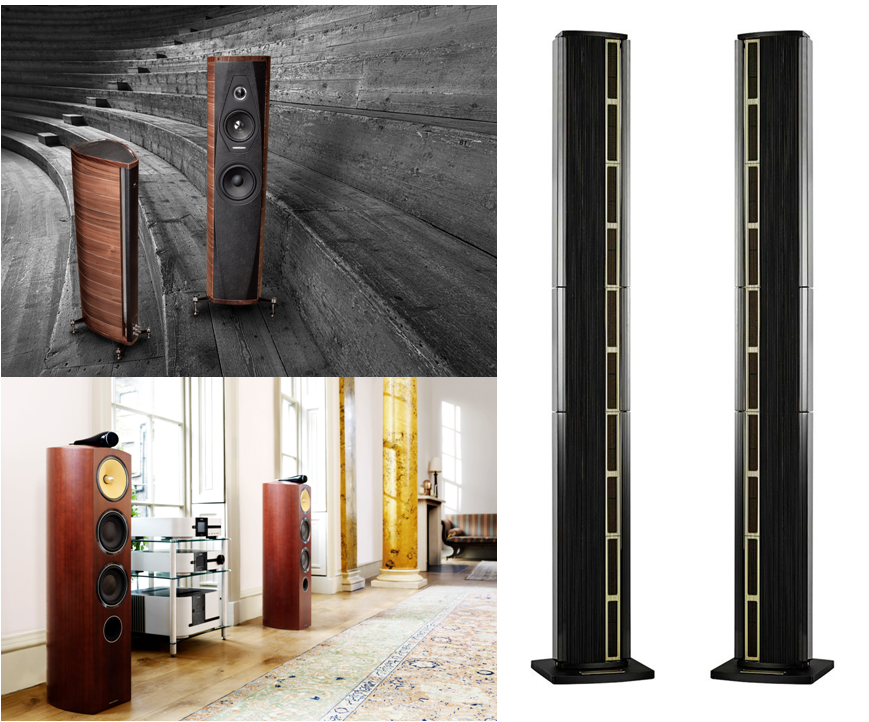 Bowers & Wilkins, Steinway & Sonus Faber speakers.